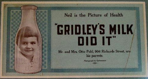 Wisconsin milk bottle Gridley