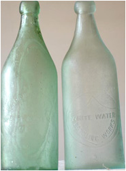 antique Soda Bottles Before Cleaning