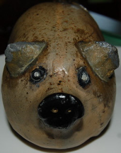 Charles Herman Antique Milwaukee pig figural bottle face