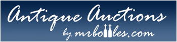 Antique Auction by mrbottles.com logo