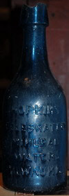 Hopkins mineral water Milwaukie Pontiled bottle